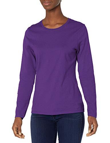 Hanes Women's Long Sleeve Tee, Violet Splendor, X-Large