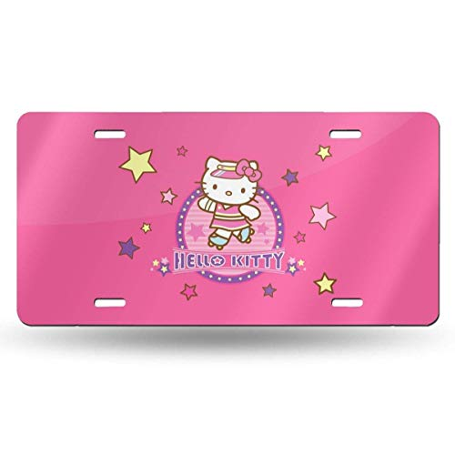 Suzanne Betty Aluminum License Plates - Pink Hello Kitty License Plate Tag Car Accessories 12 X 6 Inches