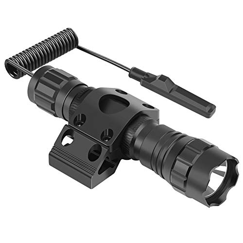 Feyachi FL17 Weapon Light 1200 Lumens Tactical Flashlight with M-Lok Rail Mount, Pressure Switch Batteries and Charger Included