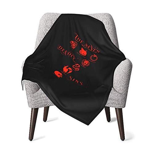 AOOEDM Die sieben Todsünden Logo Ultraweiche Babydecken Warme Bettdecke 30 '' X40 ''