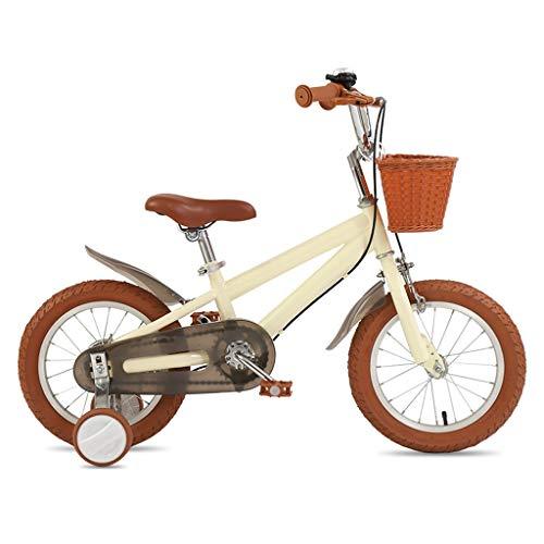 TXTC 14/16/18 Pulgada Boy Y Bici De Niña, Niños Bicicleta con Ruedas De Entrenamiento, Marco De Acero De Alto Carbono, Doble Freno De Disco, Cesta, Bicicleta Equilibrio Mejor Regalo For Los Niños