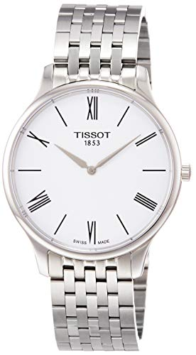 TISSOT Herren Analog Quarz Uhr mit Edelstahl Armband T0634091101800