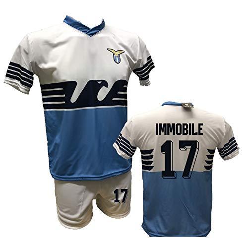 Fußball-Trikot Adler Ciro Immobilie und Shorts mit Nummer 17, bedruckt, zugelassene Replika, Größen für Kinder und Erwachsene, Weiß 2 Jahre