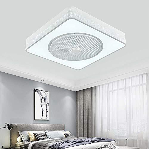-Luces de Techo Luz de ventilador de techo LED de 21.6 pulgadas con kit de luces, lámparas de techo cuadradas modernas de montaje al ras regulable con control remoto for la habitación / sala de estar