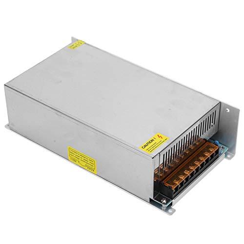 Dpofirs Fuentes de alimentación internas de aleación de Aluminio de 24 V CC para Pantalla LED, CCTV, Adaptador de Controlador de Fuente de alimentación de Interruptor (24 V / 62,5 A / 1500 W)