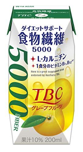 森永乳業『TBC 食物繊維 グレープフルーツ 200ml 24本入』