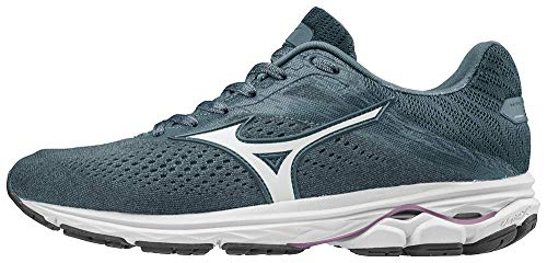 Mizuno Women's Wave Rider 23 Running Shoe, Citadel-Glacier Gray, 6 B US