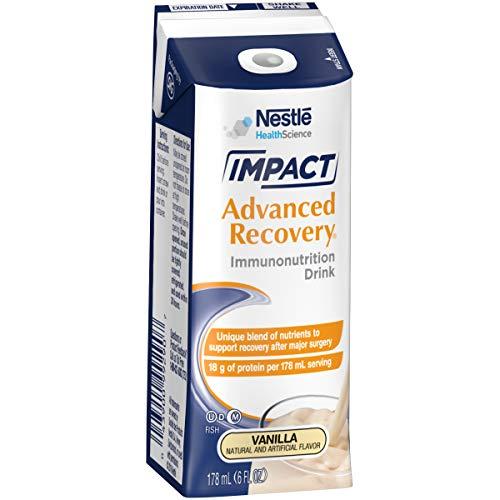 Impact, Advanced Recovery Immunonutrition Drink Box Packaging May Vary, Vanilla, 90 Fl Oz