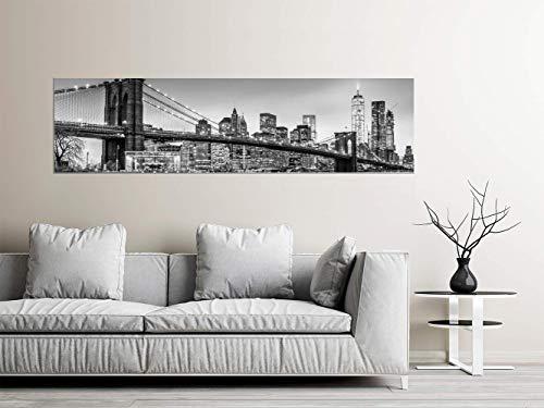 Oedim Cuadro Panorámico en Aluminio Impresión Digital Puente Brooklyn | Multicolor | 200 x 60 cm | Cuadro Panorámico para Pared, Resistente y Económico