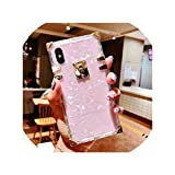 高級スクエアクリアTPUケースfor iPhone 11プロマックスX XSマックスXR 6 7 8プラスソフトシリコンTPUブリンブリン金属巻き貝カバーCapa Funda,for iPhone 7,pink shell