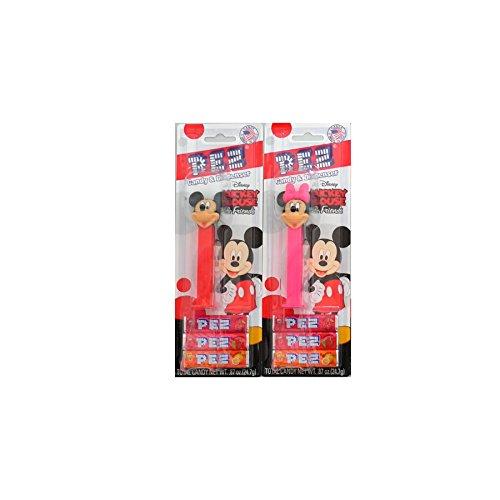 PEZ(ペッツ) ディズニー ミッキー&フレンズ 2種(ミッキー&ミニー)※お菓子は付属致しません [並行輸入品]