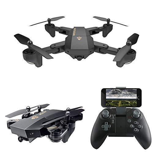 MHCYKJ Drone Selfie con videocamera HD grandangolare RC Drone Profissional WiFi FPV RC Quadricottero Elicottero Mini Dron,2MP