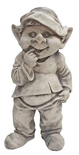Fachhandel Plus Wichtel Dekofigur lustige Gartendeko Gnom Gartenfigur Troll Zwerg Kobold