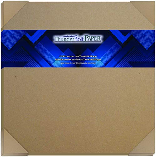 10 Sheets Brown Chipboard 80 Point Extra Thick 12 X 12 Inches Scrapbook Size .080 Caliper XX Heavy Cardboard as Thick as 20 Sheets of Regular Paper