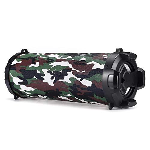 Haut-parleurs portables pour stéréo et Bas haute fidélité Outdoor Casque mains libres avec micro Smartphone PC - Portable Bluetooth Super Bass Haut-parleur Support TF FM AUX-in ( Color : Camouflage )