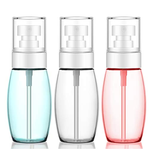 3pcs Flaschen Reisegröße Spray, 60 ml Segbeauty feiner Nebel Kunststoff TSA-Sprayer, auslaufsicher nachfüllbar Miniatur Flugzeuge Behälter für Gesicht Sprays, Make-up, lockiges Haar