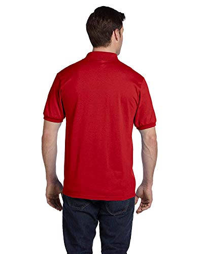 Hanes Adult ComfortBlend EcoSmart Jersey Polo Shirt, Deep Red, XX-Large