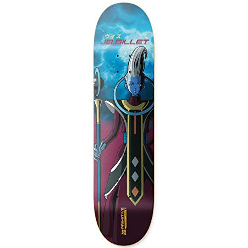 Primitive Skateboard-Brett / Deck, 21 cm, Burgunderrot