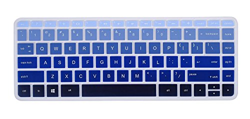 for HP Stream 14 Keyboard Cover for HP Stream 14 Inch Laptop | HP Stream 14-ax Series | 14 inch HP Pavilion 14-ab 14-ac 14-ad 14-al 14-an Series Protective Skin, Gradual Blue