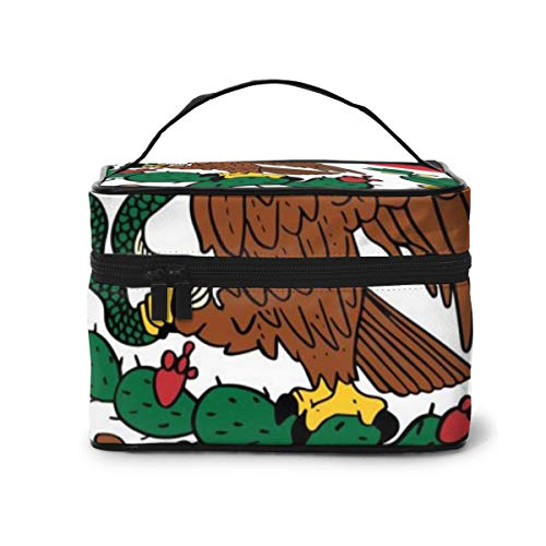 Travel Makeup Cosmetic Bags Girl Toiletry Bags Makeup Hand Drawn Mexican Flag Background