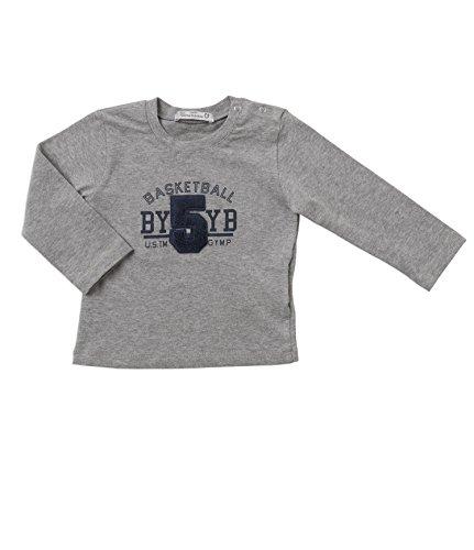 Gymp Camiseta Bebé 6m 18M Grigio melange/st.blu