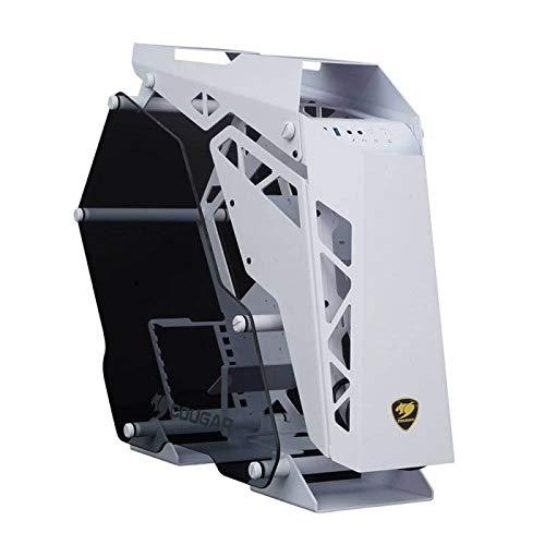 BOITIER PC Gaming Cougar Conquer Aluminium + Verre TREMPE Blanc