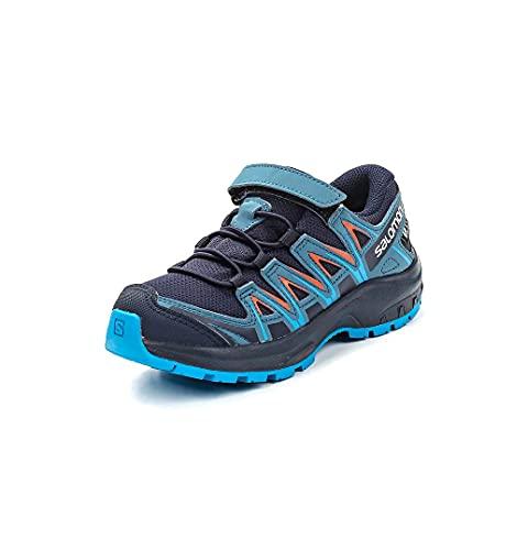 SalomonXA Pro 3D CSWP K Zapatillas Impermeabiles de Deporte Trail Running Niños, 27 EU