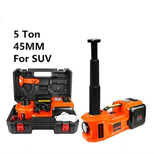 GMtes Elektrohydraulischer Wagenheber 5.0T (11023lb), 12 V Gleichstrom, Reifenheber-Reifenpumpe und 3-in-1-LED-Taschenlampe für den Notfall,A