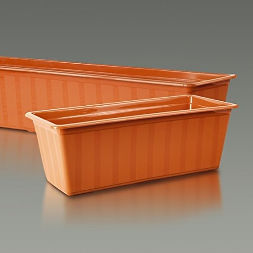Pot de fleurs rectangulaire d'extérieur - Agro - 70 cm - Terracotta -