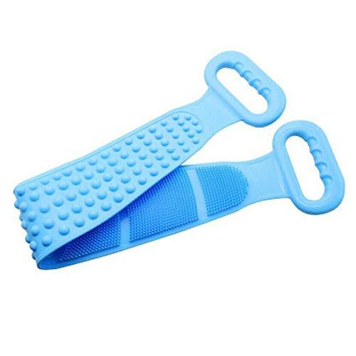Brosse Pour Le Corps Brosse de massage Outils de nettoyage de soins de la peau douce Supprimer la saleté Double face Salle de bain Laver le dos Épurateur Serviette de maison Silicone Ceinture de bai