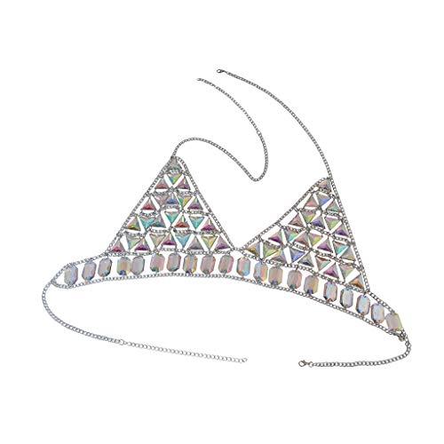 dailymall Neue Frauen Harness Top Bra Bikini Kettenhemd Dessous Brust Körperkette - Silber