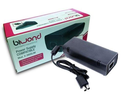 Fuente de Alimentación Adaptador CA 100-245V para X-Box 360 (Cargador de reemplazo Ideal, Fino con luz indicadora LED Enchufe de la UE) - Color: Negro