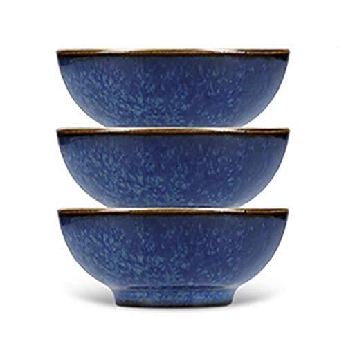 Mikasa Satori - Set di 3 ciotole giapponesi in confezione regalo, in porcellana, blu indaco, 8 cm, colore: blu