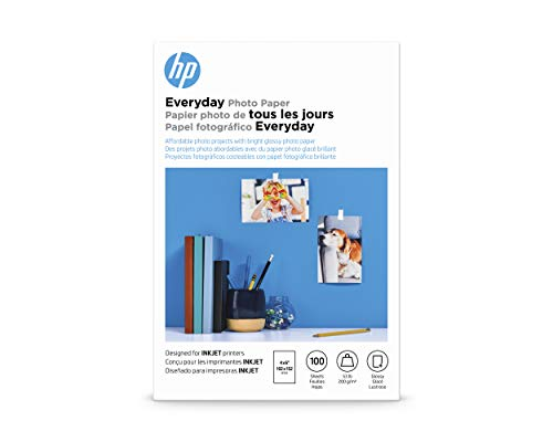 HP Everyday Photo Paper | Glossy | 4x6 | 100 Sheets