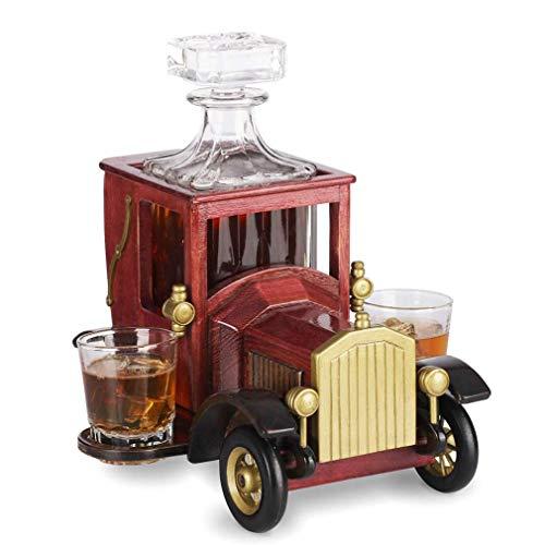 Tcbz Juego de decantador de Whisky, con Vasos de Cristal y S