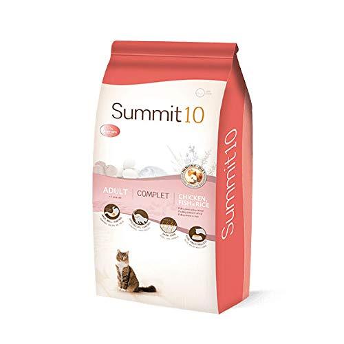 Summit 10 - CROQUETTES Chats Adultes 10 Poulet, Poisson & Riz