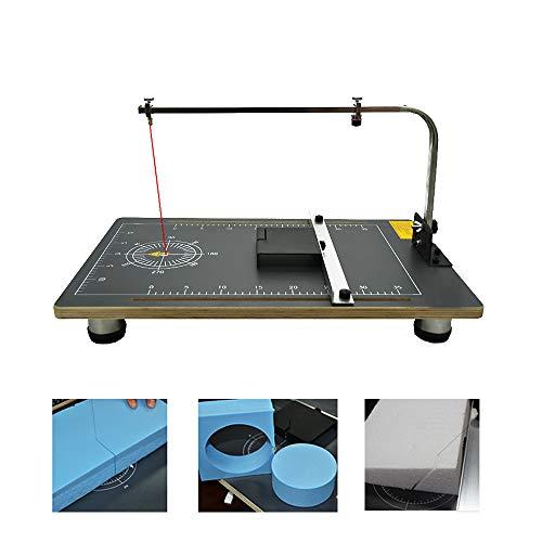 MaquiGra Mesa de Cortador Caliente para Espuma Cortadora de Alambre Eléctrico para Cortar Diferentes Modelos de Espuma de Poliestireno 3D Herramienta de DIY 30W Temperatura Ajustable (38 * 78cm)