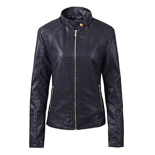 nobrand Herbst Frauen schwarz schlank Coole Lady Lederjacken süße weibliche Reißverschluss Outwear Mantel Plus Größe Kurze Jacken