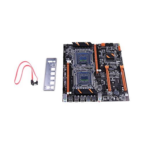 Museourstyty X79 Dual CPU LGA2011 Placa base E5 4 × DDR3 DIMM, placa base para ordenador de sobremesa placa base M.2