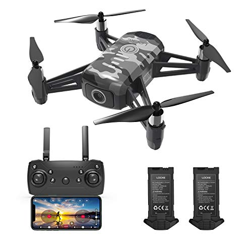 HR Drone For Kids With 1080p HD FPV Camera,Mini Quadcopter For Beginners With Altitude Hold,One Key Start/Land,Draw Path,2 Modular Batteries,Remote Control Toys Gifts for Boys Girls