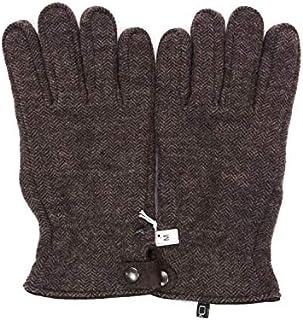 [アルポ] ウール グローブ ブラウン 手袋 メンズ AP182UA LANIER SEAMARN ヘリンボーン柄