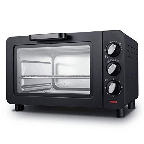 Toaster, Huishoudelijke Bakken Kleine Oven, toast, pizza, Rotisserie, voedsel drogen, Nonstick Interior, geborsteld roestvrij Stee (Color : Black)