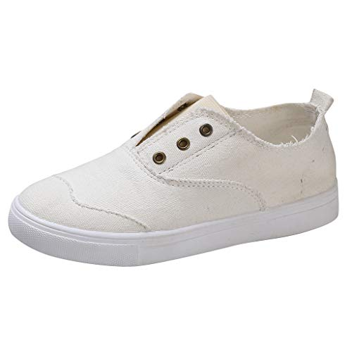 AIni Zapatilla De Deporte Mujer Unisex Zapatos De Lona Lavados CuñA Plataforma Zapatos De Lona De Mezclilla Zapatos Bajos De Gran TamañO Zapatos Planos Casuales Negro Blanco Gris Azul Rojo 35-43