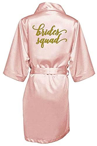 sexy Borgoña bata novia kimono satén bata de las mujeres Albornoz boda hermana madre de la novia novio dama de honor batas -a115-XL