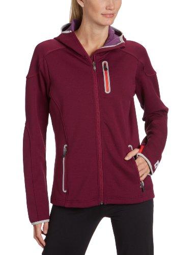 Smartwool Veste à Fermeture éclair pour Femme zippé à Capuche Mid pTM Medium Violet - Framboise