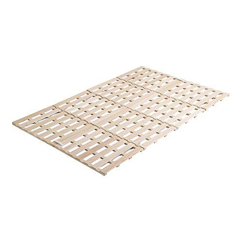 桐のすのこベッド すのこマット セミダブル 4つ折り 折り畳み 四つ折り 木製 湿気対策 スノコ オールシーズン使えるすのこベッド 梅雨や冬の時期にも 省スペース フロアベッド ローベッド