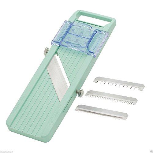 Happy-shoP New Benriner Japanese Mandoline Slicer Green Made in Japan