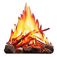 夏の屋外キャンプファイヤーパーティーの装飾のための偽の炎の紙の装飾的な3D人工火屋外キャンプ飾りセンターピース段ボールの炎