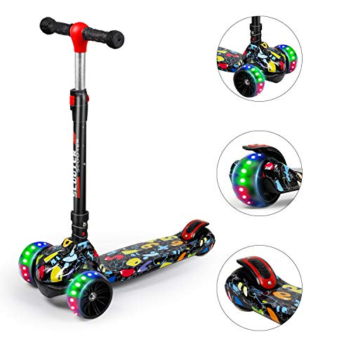 FLYING-ANT Kick Scooter for Kids 3 Wheel with Light-Up Wheels Scooter, Height Ajustable for Boys or Girls