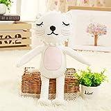 weiqiang Lion Peluche Doll Dormire Rilassante Gatto Cuscino Bambola Baby Rag Doll Dormire Rag Doll 16 * 33cm A